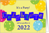 New Year's Eve 2020-21 party celebration card