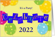 New Year 2020 party celebration card