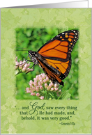 Birthday butterfly bible verse card