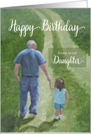 Happy Birthday From Daughter Card