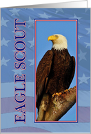 Eagle Scout Ceremony Invitation with US Flag background card