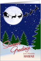 Customizable Season's Greetings from Your Town, Hawaii card