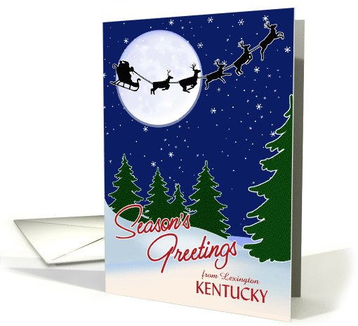 Customizable Season's Greetings from Your Town, Kentucky card (981927)