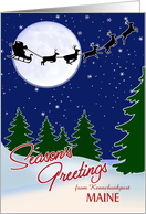 Customizable Season's Greetings from Your Town, Maine card