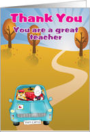 Thank you you are a great teacher card