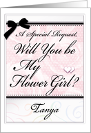 Will You be My Flower Girl ? Personalize CUSTOMIZE NAME card