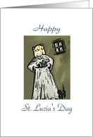 Happy St. Lucia's Day card