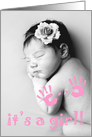 it's a girl! : customizable picture card