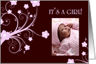 it's a girl! : flowers picture card