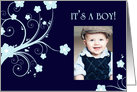 it's a boy! : flowers picture card