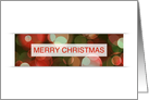merry christmas bokeh (blank inside) card