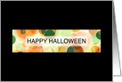 happy halloween bokeh (blank inside) card