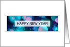 happy new year bokeh (blank inside) card