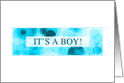it's a boy bokeh (blank inside) card