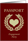 engagement party passport card
