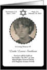 elegant star of david memorial invitations card
