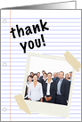 thank you notebook paper : general business (photo card) card