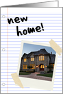 new home : notebook paper (photo card) card