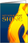 Let your light shine, cancer inspirational message card