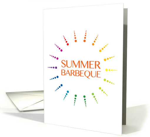 summer barbeque invitation card (1117622)