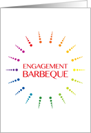 engagement barbeque invitation card