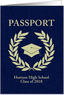 graduation passport invitation card
