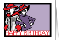 happy birthday red hat ladies card