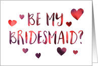 Be My Bridesmaid Invitation, blank inside card