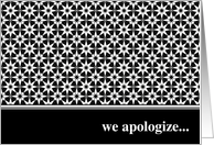 we apologize... card