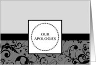 our apologies card