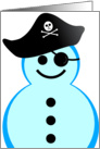 Happy Holidays from the Pirate Snowman card