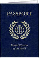 world passport : united citizens of the world card
