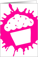 cupcake splat party invite card