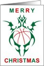 tribal basketball merry christmas card