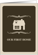 our first home : mod house card
