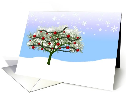 christmas tree new address announcement card (737084)
