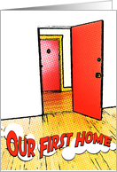our first home : comic doorway card