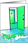 thank you for the housewarming gift : comic doorway card