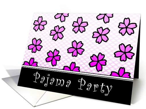 pajama party floral invitations card (765671)
