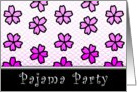pajama party floral invitations card