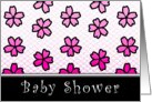 baby shower floral invitations card