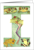 Frog Initial I card