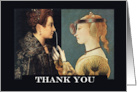 Funny Thank You, Renaissance Paintings, Female ENT Doctor card