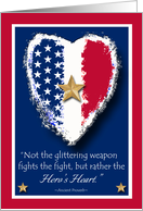 Gold Star Mother's Day, Hero's Heart Patriotic Design card