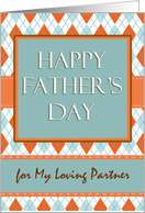 Father's Day for Partner, Argyle Design card