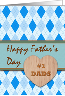 Father's Day for #1 Dads, Both My Dads, Argyle Pattern card