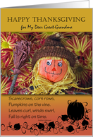 Thanksgiving for Great-Grandma, Scarecrow and Fall Poem card