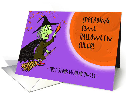 Halloween for Spooktacular Uncle, Witch with Potion card (1135222)
