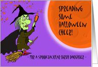 Halloween for Spooktacular Birth Daughter, Witch with Potion card