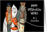 Halloween for Boss, Vampire, Ghost, and Chained Monster card